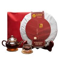 七彩云南茶叶普洱茶 润熟饼 357g