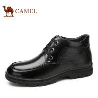 camel 骆驼男靴 商务休闲皮靴 秋冬新款保暖短筒靴子男