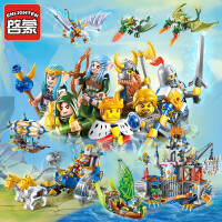 骑士团城堡幻影荣耀忍者模型积木男孩拼装玩具未来6-7-8-10岁