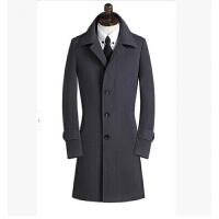 妮子大衣男羊绒毛呢风衣韩版帅气中长款加厚青年冬季修身外套