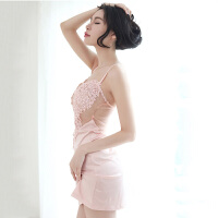 韩版蕾丝甜美花边睡裙 女士吊带睡裙 情趣内衣 性感家居服