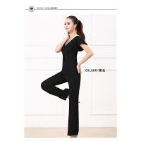 2018新款春夏瑜珈服套装莫代尔短袖舞蹈练功服瑜伽服女运动健身服