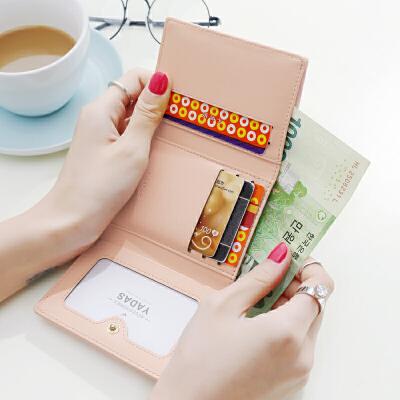 女士钱包 女 短款日韩版简约迷你学生小钱包零钱包钱夹皮夹 发货周期:一般在付款后2-90天左右发货,具体发货时间请以与客服协商的时间为准