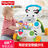 【当当自营】费雪正品早教益智玩具学步车婴儿推车 多功能小斑马学步DNK52