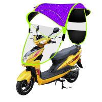 电动车摩托车雨伞遮阳伞车棚雨棚防紫外线可收可折叠新款加固加厚