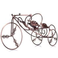 [当当自营]菲迪拉 古铜色欧式仿不锈钢三轮车造型单只装红酒架HT1193