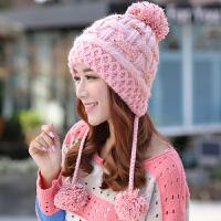 毛线帽子女冬天秋冬季韩版百搭潮甜美可爱韩国加厚保暖护耳针织帽