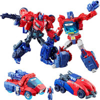 �形金��加���擎天柱�W利安�M化套�b 男孩玩具�形�C器人