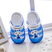 儿童拖鞋小童女夏季小孩包头凉拖鞋防滑男童沙滩鞋洞洞鞋