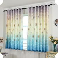 窗帘成品飘窗短帘遮光 现代简约客厅卧室阳台平面窗遮阳清新半帘