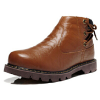秋冬男靴独特个性英伦风格时尚马丁男鞋加绒保暖高帮雪地靴