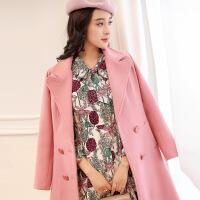 时尚套装女2017冬季新款韩版修身气质两件套打底连衣裙毛呢外套女
