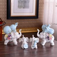 大象摆件家居饰品酒柜装饰品客厅玄关隔断电视柜陶瓷小工艺品