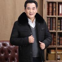秋冬季中老年人男装棉衣爸爸冬装外套新款加绒加厚老人爷爷装 0 90到105斤