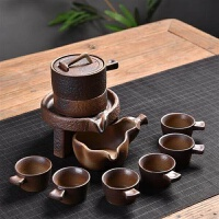 茶具套装家用石磨创意陶瓷茶壶功夫茶杯半全自动懒人泡茶器