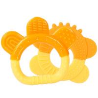 儿童节礼物 男孩 宝宝 婴儿牙胶3-12个月玩具香蕉口咬咬胶乐硅胶软 戏水玩具 铃铛+甜甜圈