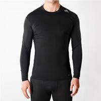 Adidas阿迪达斯 男子 运动训练健身长袖紧身衣AJ5016