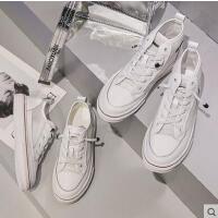 白色高帮运动鞋女潮嘻哈女鞋韩版休闲透气百搭低帮小白鞋学生