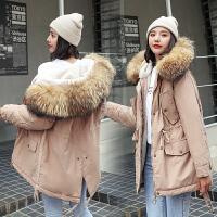 【极速发货 超低价格】2020新款冬季外套女宽松棉衣大毛领中长款棉服羊羔毛工装派克服潮