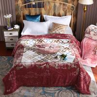家纺2017秋冬季新款毛毯加厚双层冬季午睡毯子单双人婚庆盖毯空调毯床上用品 200cmx230cm