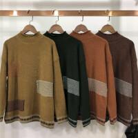 B2秋冬新款半高领套头打底毛衣女加厚提花大码长袖针织衫女装0.39