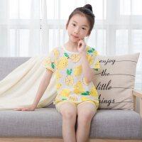 儿童睡衣纯棉男童家居服套装宝宝薄款女童中大童空调服
