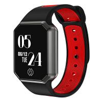 七夕礼物 智能手环男女心率测血压手环运动手表oppo计步器苹果华为小米 黑红