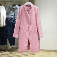 毛呢大衣冬装新款 立领中长款一粒扣呢子外套 品牌撤柜女装