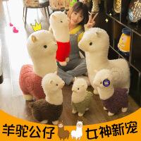 新款可爱羊驼公仔大号神兽草泥马毛绒玩具绵羊抱枕