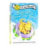 I can read饼干狗系列分级阅读 Biscuits Snow Day Race 小饼干狗雪天比赛 英文原版 分阶