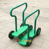 感统训练器材平衡脚踏车踩踏车儿童四轮健身教具幼儿园运动会玩具 双人协力车 绿色1个
