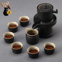 简约现代功夫半自动茶具家用陶瓷石墨茶杯套装整套茶壶懒人泡茶器