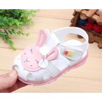 夏季宝宝凉鞋女童婴儿凉鞋学步鞋子小童1-2-3岁包头公主凉鞋闪灯