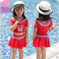 儿童泳衣女孩中大童公主裙式婴幼儿宝宝可爱韩国速干连体泳装
