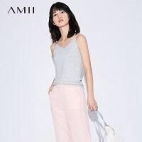 【到手价34元】Amii[极简主义]2019夏装新款百搭休闲性感露肩吊带背心女外穿