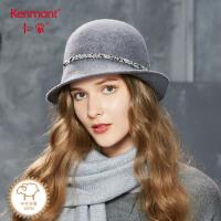 卡蒙卷边毛呢帽子冬季英伦户外帽子优雅小礼帽女春秋全羊毛毡帽2630