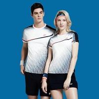 羽毛球服套装 男乒乓球圆领网球服女短袖运动yy上衣