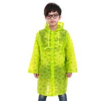 明嘉 855 韩国Pororo图案儿童雨衣EVA薄款隐形背包男女童雨披