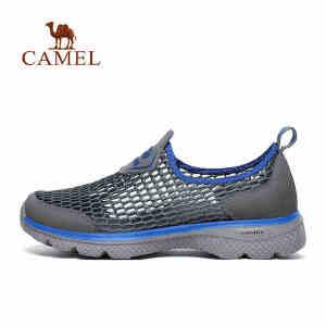 camel骆驼户外徒步鞋男 春夏透气网鞋吸湿排汗缓震休闲鞋