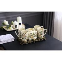 中式卫浴五件套 陶瓷简约 刷牙杯漱口杯卫生间洗漱套装 浴室用品