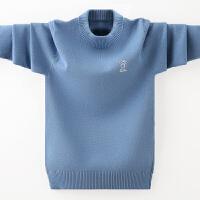 男童毛衣套头秋冬款新款打底衫儿童中大童加厚加绒洋气潮