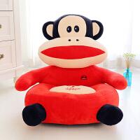 可爱创意儿童男孩女孩毛绒玩具懒人长颈鹿动物沙发椅豆豆无骨头单人卧室小沙发单个沙发