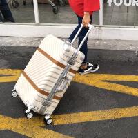 七夕礼物行李箱铝框拉杆箱旅行箱包万向轮女24寸韩版男20密码登机皮箱子26 29寸【托运 出国】