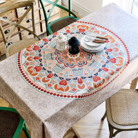 欧式茶几餐桌布民族风正方形客厅波西米亚怀旧长方形复古桌布布艺