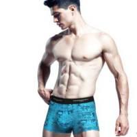 谢嘉儿单条装纯棉男士四角裤 平角裤透气 时尚运动贴身男人内裤