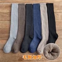 长袜子冬季小腿袜潮流高帮中筒袜保暖冬天男长筒高筒