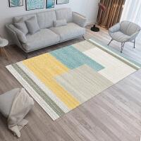 北欧风格客厅地毯几何图案沙发茶几垫现代简约卧室床边地毯可定制j 浅灰色 Q-43 2米x3米 送随机小垫