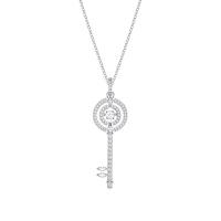 【网易考拉】SWAROVSKI 施华洛世奇 女士跳动的钥匙项链 银色 5368263