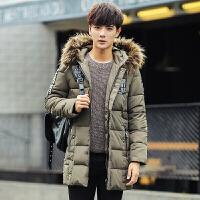 棉衣男冬季2017新款加厚棉袄子男士韩版中长款冬装修身外套潮