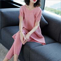 2018春装新款时尚女装宽松大码气质通勤休闲套装两件套女潮 均码[90-150斤均可穿]